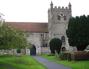 Wye, Kent - Image: Wye parish church