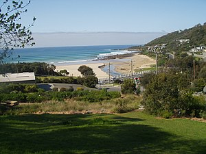 Wye River, Victoria - Looking South over Wye River Township