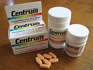 Centrum multivitamins in Australasian packaging.