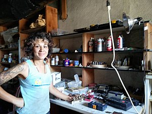 Hackerspace - An artist gives a tour of one of the two machine shops in Xanadu, a makerspace under the aegis of Burning Man (Idaho Burners Alliance) in Boise which is open to all.