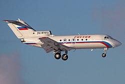 Yakovlev Yak-40, Rossiya Airlines JP7762443.jpg