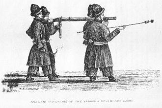 Yarkant County - Andijani Taifurghis of the Yarkand Governor's Guard. 1870s