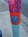 """Yarn bomb - """"That Cafe"""" pole (5520985013).jpg"""