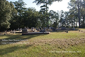 Hal B. Wansley Power Plant - Yellow Dirt Church Cemetery and the graves seven Confederate veterans