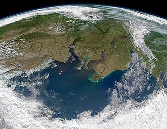 Ob River - Yenisei and Ob (right) flow into Kara Sea