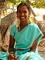 Young Woman in Traditional Dress - Mamallapuram - India.JPG
