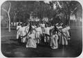 Younger school girls enjoying a festival at the Albuquerque Indian School. - NARA - 292876.tif