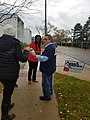 Ypsilanti mayoral candidates Anne Brown and Beth Bashert electioneering at EMU Honors College polling place (2).jpg
