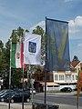 Zászlók a Nagystrand előtt, 2019 Siófok.jpg