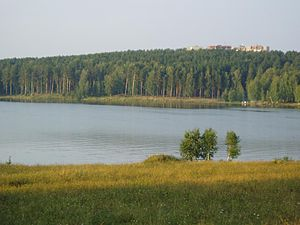 Zarechny, Sverdlovsk Oblast - View of Zarechny over the lake