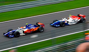 Davide Valsecchi - Valsecchi pursues Adrian Zaugg at the Spa-Francorchamps round of the 2010 GP2 Series season.