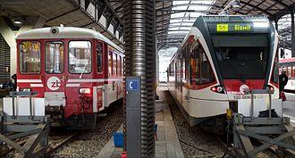 Lucerne S-Bahn - Image: Zentralbahn trains, Luzern