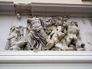 Porphyrion giant in Greek mythology