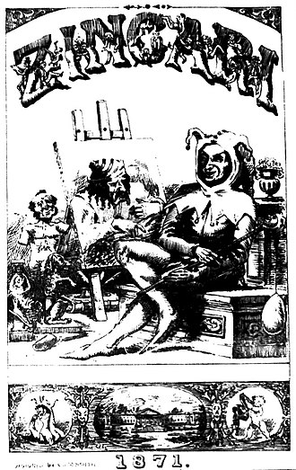 The Zingari - Front cover of an early Zingari edition.