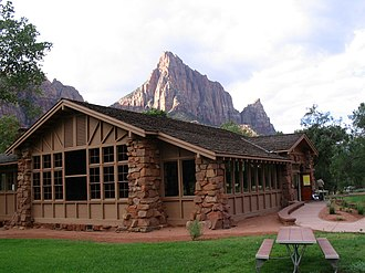 Historical buildings and structures of Zion National Park - Zion Nature Center - Zion Inn
