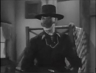 Zorro - Zorro (Reed Hadley) in the serial Zorro's Fighting Legion (1939)