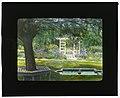 """Beechgate,"" Robert Carmer Hill house, Woodland Avenue, Englewood, New Jersey. Fountain in flower garden LCCN2008675776.jpg"