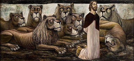 """""""Daniel In the Lion's Den,"""" by Robert Edward Weaver c. 1952"""