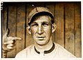 """Harvard"" Eddie Grant, Cincinnati Reds third baseman, by Paul Thompson, 1911.jpg"