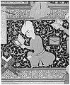 """Laila and Majnun in School"", Folio 129 from a Khamsa (Quintet) of Nizami MET 187671.jpg"