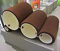 """ 12 - ITALY - Tube Chair Flexform - brown bicolor armchair Triennale Design Museum - Joe Colombo.JPG"
