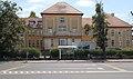 'Csorna, kórház' bus stop and Hospital A building, 2019 Csorna.jpg