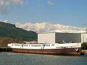 SS Nomadic (1911) - Nomadic at Barnett Dock, before restoration.