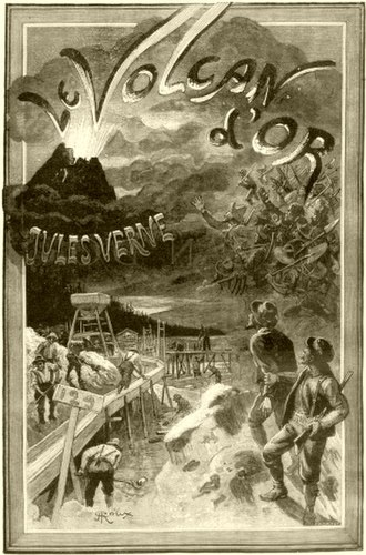 The Golden Volcano - Cover illustration for the original edition