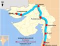 (Bhuj - Mumbai Dadar) Express route map.png