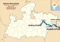 (Jabalpur - Ambikapur) Express route map.png
