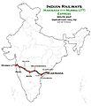(Kakinada - Mumbai LTT) Express Route map.jpg