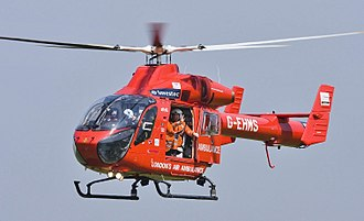 MD Helicopters MD Explorer - A London's Air Ambulance MD900 over the Biggin Hill Airshow 2008