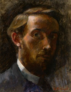 Édouard Vuillard - Self-portrait, 1889, oil on canvas