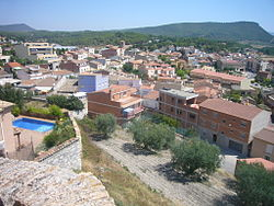 Òdena, seen from its castle