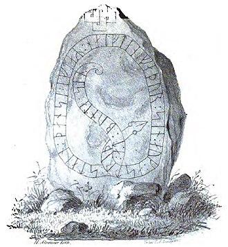 Östergötland Runic Inscription 224 - Image: Ög 224 B, Stratomta
