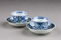 Östasiatisk keramik. Koppar med fat, 2 st, i miniatyr - Hallwylska museet - 95780.tif