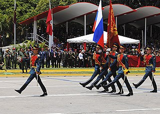 Yearly military parade held on July 5th in Caracas, Venezuela