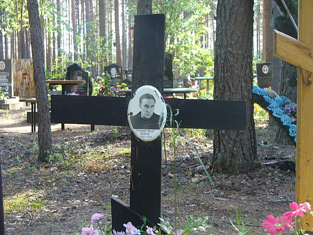 Крест на могиле Эдуарда Старкова