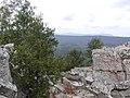 Крутой ключ. Вид на Уральский хребет. На горизонте - вершины Таганая Круглица и Откликной гребень.jpg