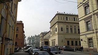 Millionnaya Street thoroughfare in Saint Petersburg, Russia