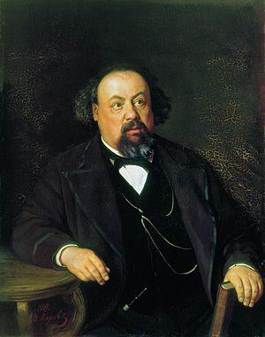 Aleksey Pisemsky - Portrait of Pisemsky by Vasily Perov, 1869