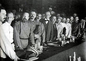 Nikolai Bukharin - Delegates of the 2nd World Congress of the Comintern in 1920