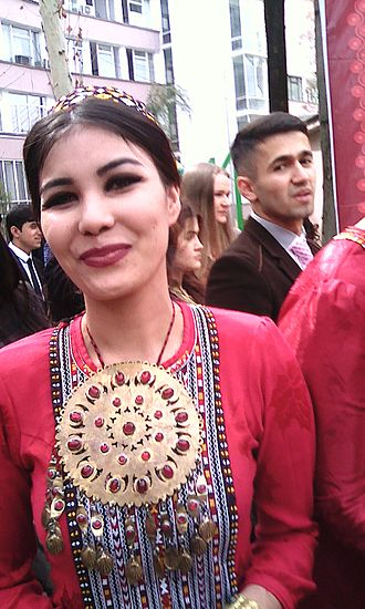 Turkmens - female in Turkmenistan in 2017