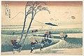 冨嶽三十六景 駿州江尻-Ejiri in Suruga Province (Sunshū Ejiri), from the series Thirty-six Views of Mount Fuji (Fugaku sanjūrokkei) MET DP141046.jpg