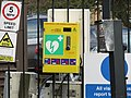 -2019-01-14 Defibrillator outside the Security gates to Sidestrand Hall School, Cromer Road, Sidestrand.JPG