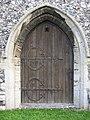 -2020-11-12 West door, All Saints, Upper Sheringham.JPG