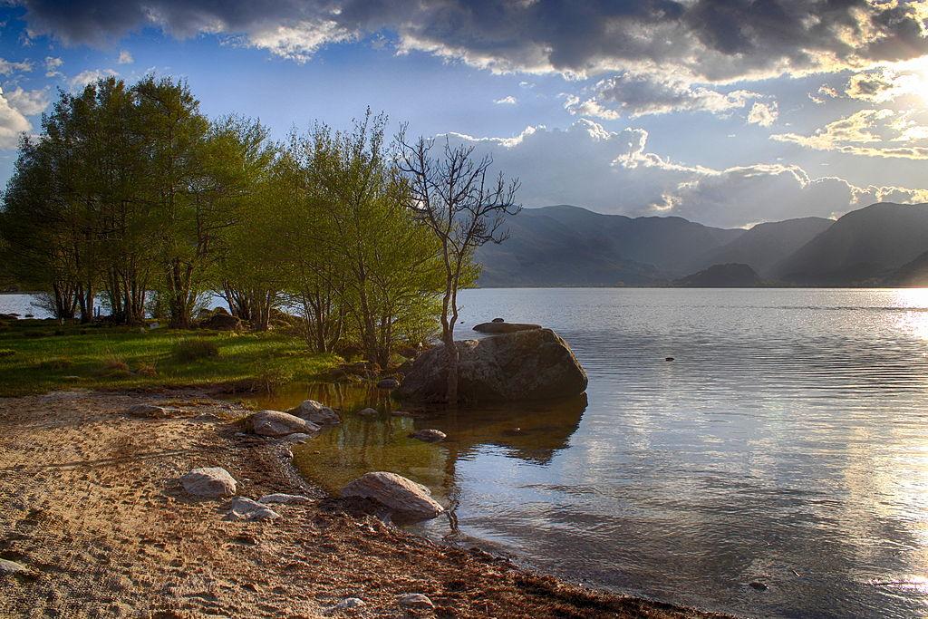 Vista del lago Sanabria (Zamora, España).