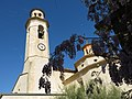 008 Església de Santa Maria (Salomó), façana sud i campanar.jpg