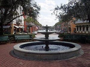 Celebration, Florida - A view of downtown Market Street.