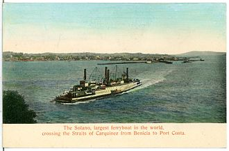 Solano (ferry) - The Solano, largest ferryboat in the world (1906)